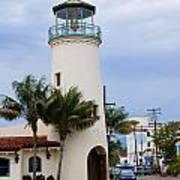 Lighthouse In Santa Barbara Street Poster