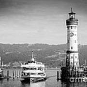 Lighthouse Lindau Lake Constance Germany Poster