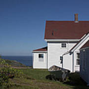 Lighthouse Monhegan Color Poster