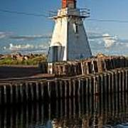 Lighthouse On A Channel By Cascumpec Bay On Prince Edward Island No. 095 Poster