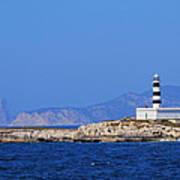 Lighthouse On Isla De Es Penjats Poster