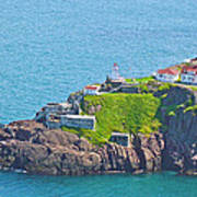 Lighthouse On Point In Signal Hill National Historic Site In Saint John's-nl Poster