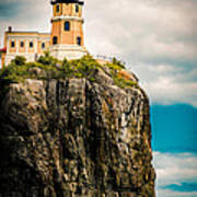 Lighthouse On Split Rock Poster