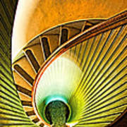 Lighthouse Stairway - Point Loma San Diego Poster