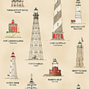 Lighthouses Of The East Coast Poster