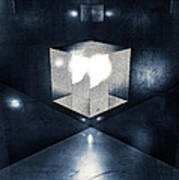 Lighting In Cube Poster