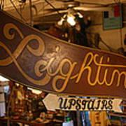 Lighting Upstairs Sign Poster