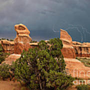 Lightning Devils Garden Escalante Grand Staircase Nm Utah Poster