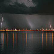 Lightning Storm Pano Work A Poster