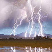 Lightning Striking Longs Peak Foothills 4c Poster by James BO  Insogna