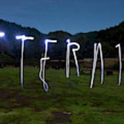 Lightpainting Image Spelling The Word Poster