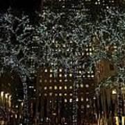 Lights In Rockefeller Center Poster