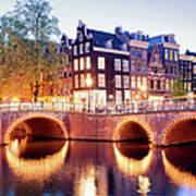Lights Of Amsterdam Poster