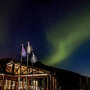 Lights Over Princess Denali Lodge Poster