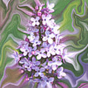 Lilac Abstract Poster