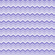 Lilac Chevron Poster