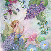 Lilac Enchanting Flower Fairy Poster