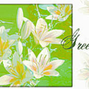 Lilies Greeting Card Poster