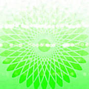 Lime Green Spirograph Poster