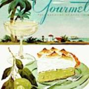 Lime Meringue Pie With Champagne Poster