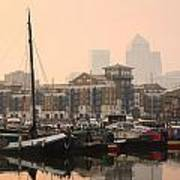 Limehouse Basin In London. Poster