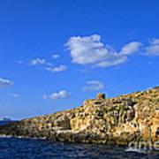 Limestone Rock, Mediterranean Sea, Malta Poster
