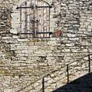 Limestone Wall With Door And Shadow Poster