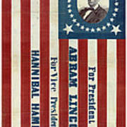 Lincoln 1860 Presidential Campaign Banner Poster