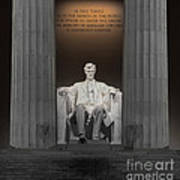 Lincoln And Columns Poster