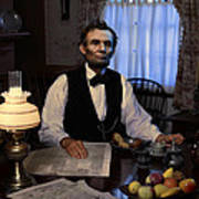 Lincoln At Breakfast 2 Poster by Ray Downing
