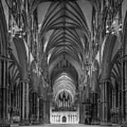 Lincoln Cathedral Nave Poster by Ian Barber