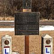 Lincoln Highway Marker Poster