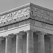 Lincoln Memorial Columns Bw Poster by Susan Candelario