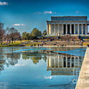 Lincoln Memorial Reflection Poster