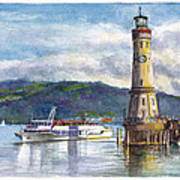 Lindau Light And Harbour Poster
