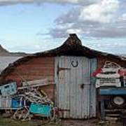 Lindisfarne Boat House Holy Island Poster