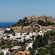 Lindos Acropolis Looking Seaward Poster