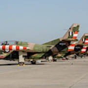 Line-up Of Hellenic Air Force T-2 Poster