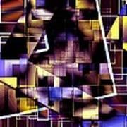 Lines Vs Diagonals Poster by Mario Perez