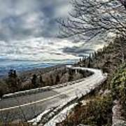 Linn Cove Viaduct During Winter Near Blowing Rock Nc Poster