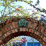 Lion Arch With Flowers Poster