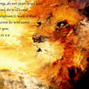 Lion Of Judah Courage  Poster