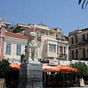 Lion Place Of Samos Poster