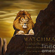 Lion Watchman Poster