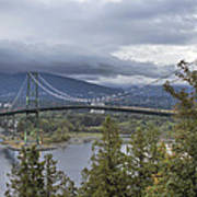 Lions Gate Bridge From Stanley Park Poster