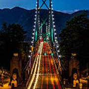 Lion's Gate Bridge Vancouver B.c Canada Poster
