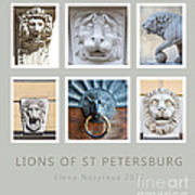 Lions Of St Petersburg Poster by Elena Nosyreva