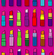 Lipsticks Pattern Poster
