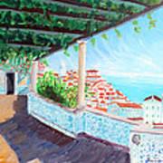 Lisbon Alfama With Atlantic Ocean Poster