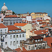 Lisbon Alfama District Poster